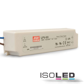 112326 Isoled LED Trafo MW LPV 24V/DC, 0 60W, IP67 Produktbild