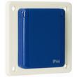 10006 WALTHER Schutzkontaktsteckdose 16A 230V 2P+E IP44 grau Flansch 60x60 mm Produktbild
