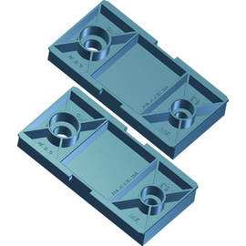 509.000 Bachmann Steckdoseneiste Factory Kunststoffhalterset für 1HE VM und STEP Produktbild
