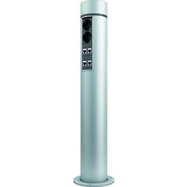 924.5003 Bachmann LanLight Patchsäule 8P/4S 8xCat6 4xSchutzkontaktsteckdosen Produktbild