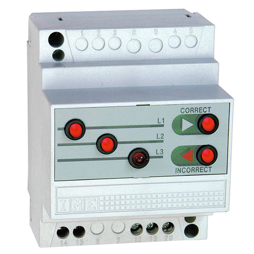 AN9B1 IME Drehfeldrichtungsanzeiger D4SE 100...440V, Hutschiene b=70mm Produktbild Front View L