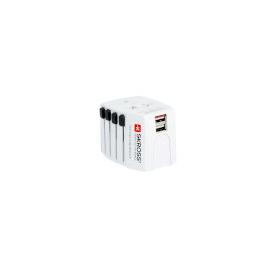 SKR1302930 Skross Reise Adapter World MUV USB ohne Schutzkontakt Produktbild