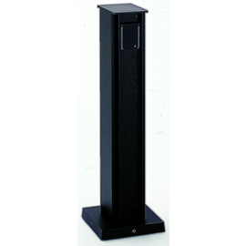 662105 Albert Leuchten Steckdosensäule, 2 fach, Alu. schwarz Produktbild