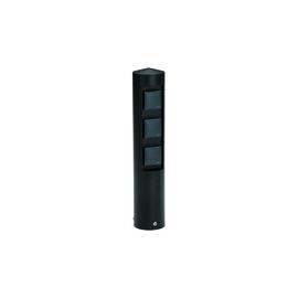 662102 Albert Leuchten Steckdosensäule, 3 fach, Alu, schwarz Produktbild