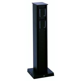 662106 Albert Leuchten Steckdosensäule, 4 fach, Alu, schwarz H 40cm Produktbild