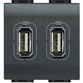 L4285C2 Bticino USB LADEMODUL 2 FACH ANTHR. Produktbild