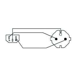 CAB490/10 Procab Netzkabel Schuko auf Kaltgerätebuchse 10m Produktbild