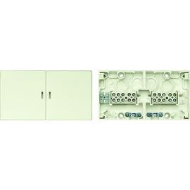 521044 Merten Geräteanschlussdose Mehrkammerdose UP & AP Weiss Produktbild