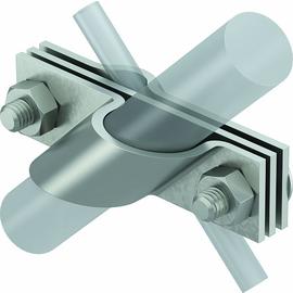 5001672 Obo 2760 25 V4A Anschlussschelle für Rund und Flachleiter 25mm Edelstahl Produktbild