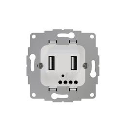 2U-449474 2 USB Ladesteckdose JP-3502BD chargeUP TAE 2,4A reinweiß 2-fach Produktbild