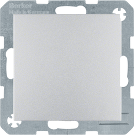 47521404 Berker Schuko-Steckdose mit Klappdeckel IP44 S1 Alu matt lackiert Produktbild