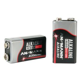 1515-0000 Ansmann RED Alkaline Batterie 9V Block E / 6LR61 1er Blister Produktbild