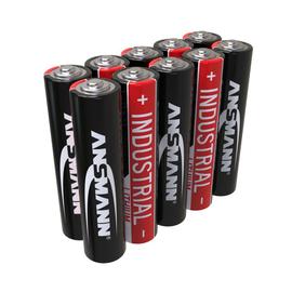 1501-0009 Ansmann Industrial Alkaline Batterie Micro AAA / LR03 10er Karton Produktbild