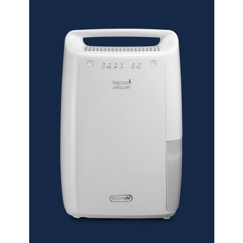 0148510201 DeLonghi DEX210 Luftentfeuchter 267W bis 45m³ 2,1L Wt. Produktbild Front View L
