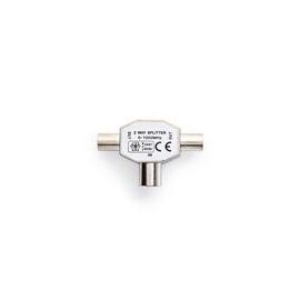 CSGP40950ME Nedis Koaxialverteiler 2x IEC Koax-Stecker auf IEC Koax-Buchse Produktbild