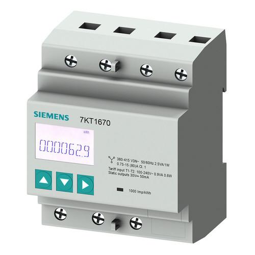 7KT1671 Siemens 7KT PAC1600 LCD Sentron Zähler 3-ph. 80A geeicht Produktbild Front View L