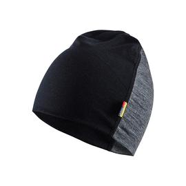 203517349699onesize Blakläder Mütze Merinowolle mittelgrau/schwarz onesize Produktbild