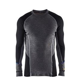 489717329699M Blakläder Unterhemd warm Merinowolle grau/schwarz M Produktbild