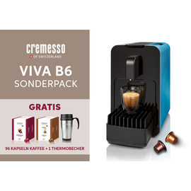 1000792 Cremesso Sonderpack Viva B6 Kapsel-Kaffeemaschine Strong Petrol Produktbild