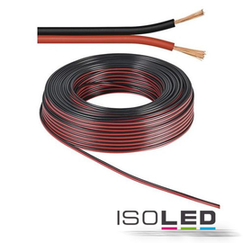 114705 Isoled Kabel 50m Rolle 2 polig 0.75mm² H03VH H YZWL, schwarz/rot, AWG Produktbild