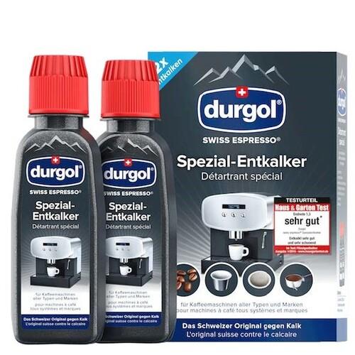 630015 Durgol Swiss Espresso 2x125ml Spezial - Entkalker für Kaffemaschinen Produktbild Front View L