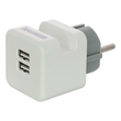 2U-449412 2USB Steckerladegerät EU2USB-A easyCharge Plugin +Handyhalter weiß/grau Produktbild Additional View 1 S