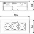 6119433 OBO SDE-RW D0RW3B Steckdosen- einheit Modul 45, 3fach 84x185x59mm Produktbild Additional View 1 S