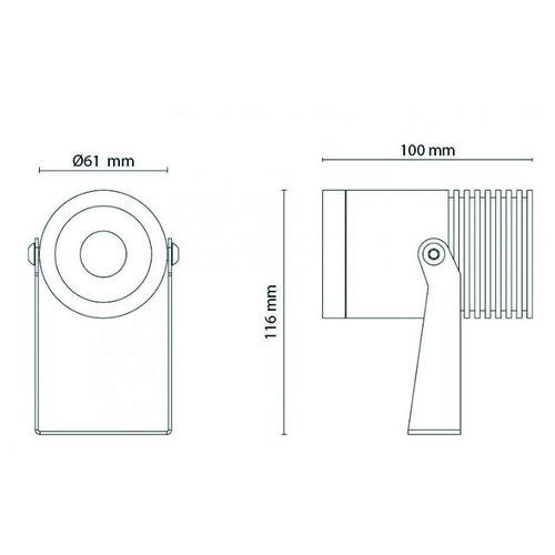 630005 SG Leuchten INTRO MIDI 15W LED 3000K, 230V 1300lm 36° Produktbild Additional View 1 L