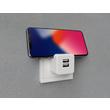 2U-449412 2USB Steckerladegerät EU2USB-A easyCharge Plugin +Handyhalter weiß/grau Produktbild Additional View 2 S