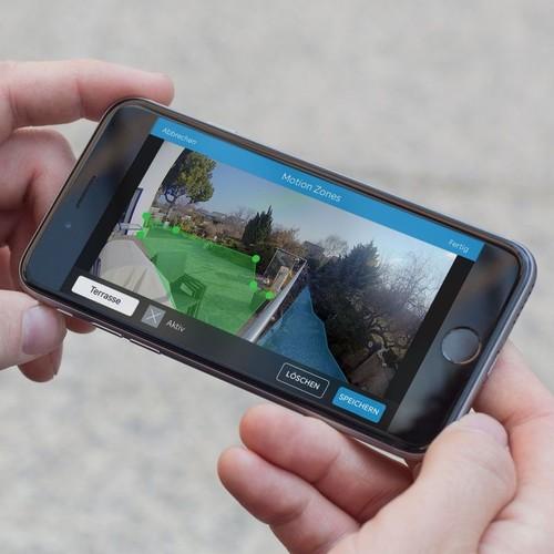 4462231 Ring 8SF1P7-BEU0 Überwachungs- kamera WLAN schwarz Flutlicht Produktbild Additional View 4 L