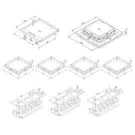 Trayco Unterflur Set 1 Klappdeckel bis 15mm Edelstahl Produktbild