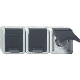 78930 GIRA SCHUKO-STECKDOSE 3-FACH FR AP Produktbild