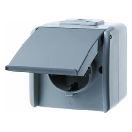 474005 BERKER SCHUKO-STECKDOSE FR AP AQUATEC Produktbild
