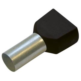270788 HAUPA TWIN-ENDHÜLSEN 1,5/8 SCHWARZ. isoliert Produktbild