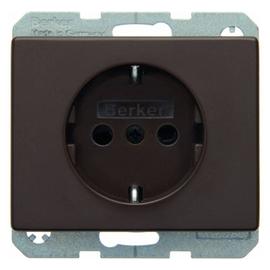 47350001 BERKER SCHUKO-STECKDOSE M. SHUTTER ARSYS BRAUN Produktbild