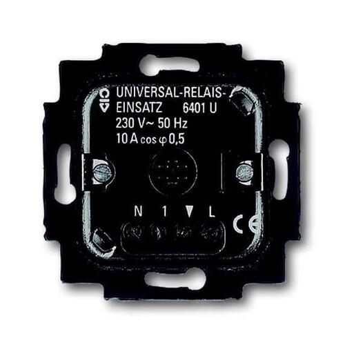 6401 U-102 BUSCH-JAEGER UNIVERSAL-RELAIS EINSATZ REL. GLÜH/HV/NV-KONV./TRONIC/TL Produktbild Front View L