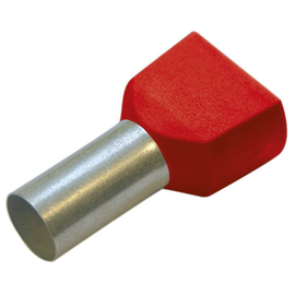 270798 HAUPA TWIN-ENDHÜLSEN 10/14 ROT isoliert Produktbild