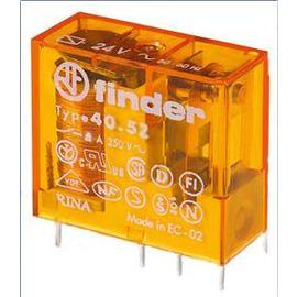 40.52.8.024.0000 FINDER STECK/PRINTREL. 24VAC   8A 2WE RASTER 5MM Produktbild