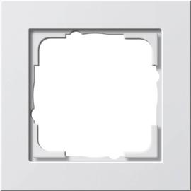 21122 GIRA RAHMEN 1-FACH E2 REINWEISS seidenmatt Produktbild