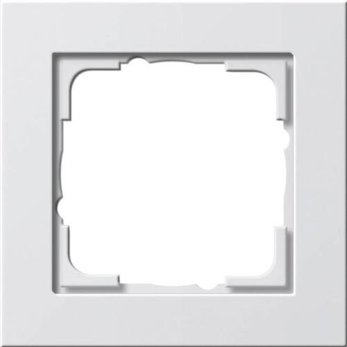 21122 GIRA RAHMEN 1-FACH E2 REINWEISS seidenmatt Produktbild Front View L