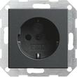 45328 GIRA SCHUKO-STECKDOSE M. SHUTTER SYSTEM 55 ANTHRAZIT Produktbild