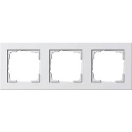 21322 GIRA RAHMEN 3-FACH E2 REINWEISS seidenmatt Produktbild