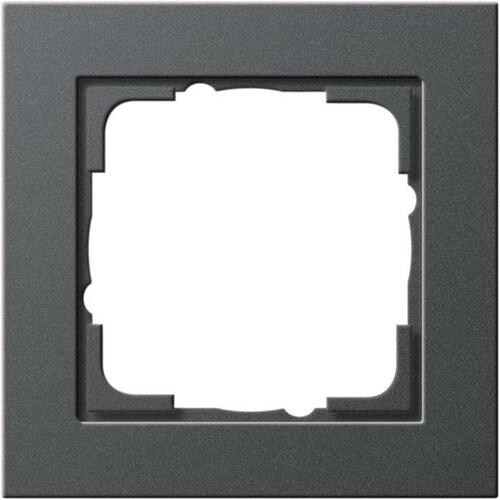 21123 GIRA RAHMEN 1-FACH E2 ANTHRAZIT Produktbild Front View L
