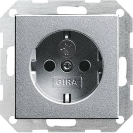 45326 GIRA SCHUKO-STECKDOSE M. SHUTTER SYSTEM 55 ALUMINIUM Produktbild