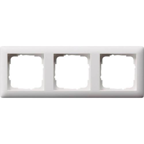 21304 GIRA RAHMEN 3-FACH STANDARD 55 REINWEISS Produktbild Front View L
