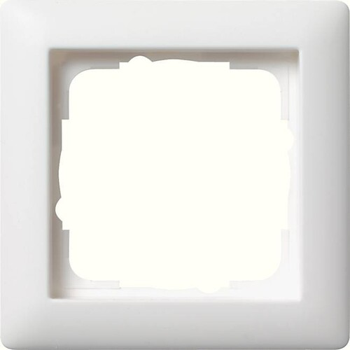 21104 GIRA RAHMEN 1-FACH STANDARD 55 REINWEISS Produktbild Front View L