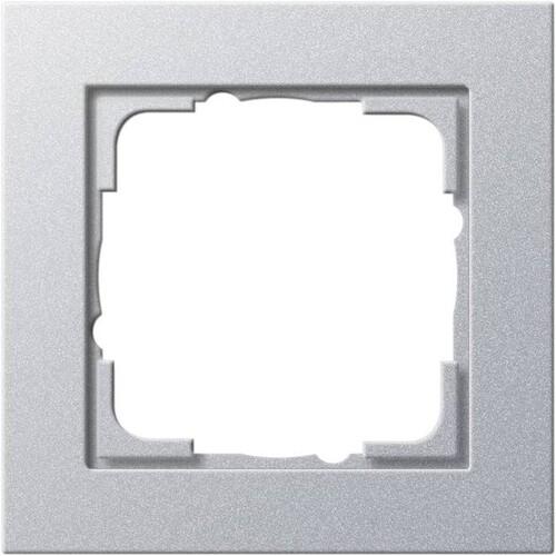 21125 GIRA RAHMEN 1-FACH E2 ALUMINIUM Produktbild Front View L