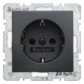 47231606 BERKER SCHUKO-STECKDOSE M. SHUTTER B.3/B.7 ANTHRAZIT Produktbild
