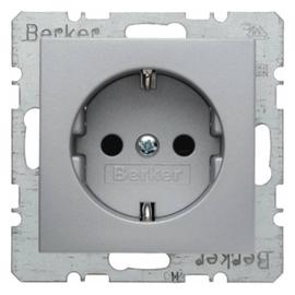47231404 BERKER SCHUKO-STECKDOSE M. SHUTTER B1 ALU Produktbild