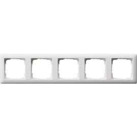 21504 GIRA RAHMEN 5-FACH STANDARD 55 REINWEISS Produktbild